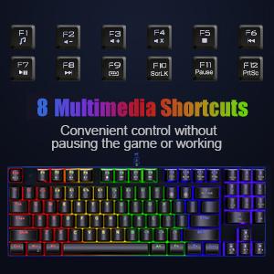 PC Gaming Keyboard,gamer keyboard,rgb keyboard,gaming keyboard 60 percent,colorful keyboard