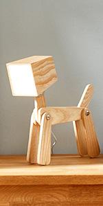 Dog Table Lamp Ash