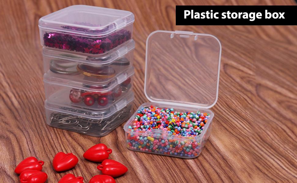 BELLE VOUS Mini Cajas Plastico (Pack de 24) - (5,3x5,3x2cm ...