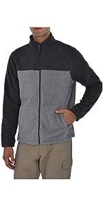 Swiss Alps Mens Full Zip Performance Polar Fleece Jacket Sweatshirt with Pockets