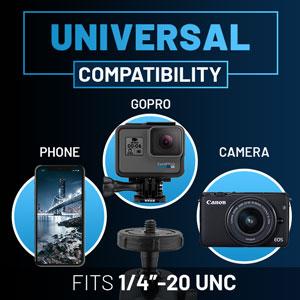 universal compatibility phone gopro camera