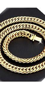 cadena cubana cubanas  thick 14mm de oro diamonds mens 24 carat links  iced out cheap solid choker