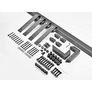 Black hardware rail track set
