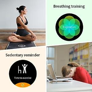 Sedentary Reminder & Breath Training smart watch