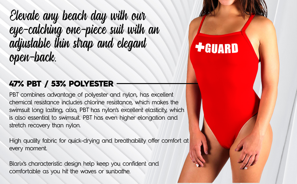 BLARIX Guard Adjustable Swimsuit 1 Piece with Cups