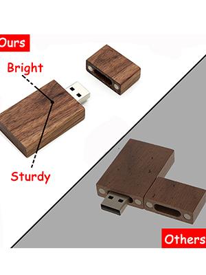 wood flash drive