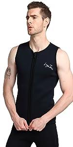 diving vest top women men neoprene suit top vest kayaking surfing canoeing suit top wet suit vest