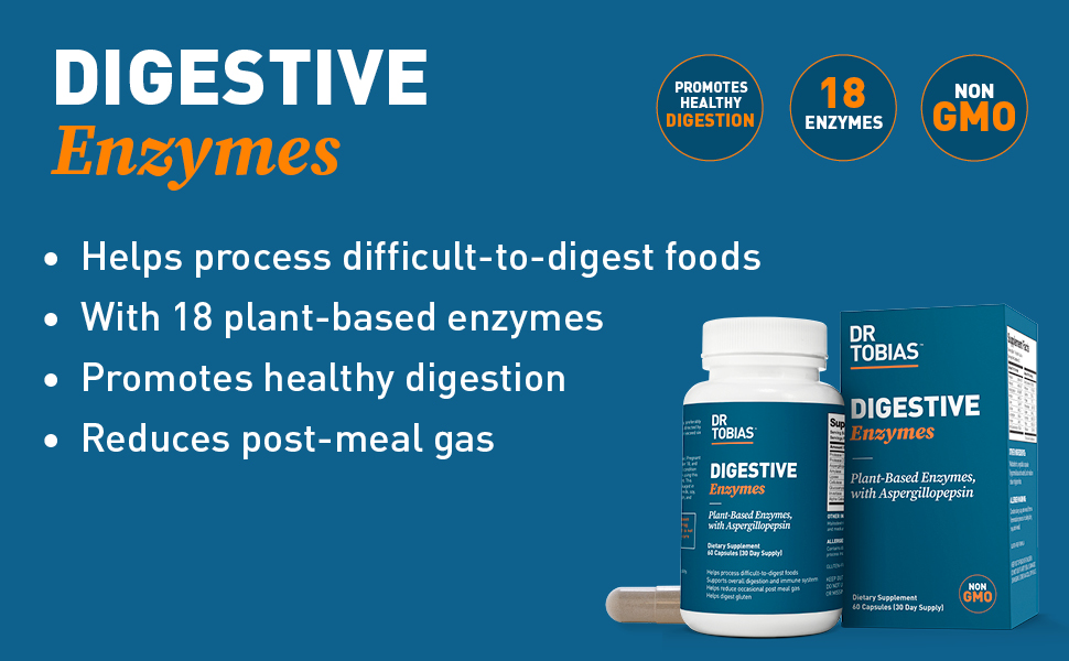 dr tobias, digestive enzymes, digestion support, digestion supplement, gut health, healthy digestion