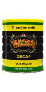 decaf medium roast coffee yaucono puerto rico canister