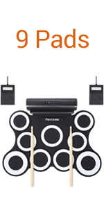 9 pads electronic drum set