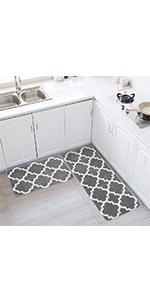 kitchen floor mat set