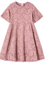 Toddler Girls Elegant Vintage Princess Party Dress