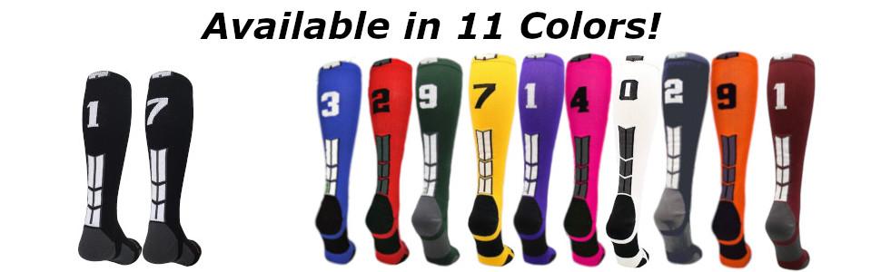 Jersey Number Socks football number socks baseball number socks softball number socks