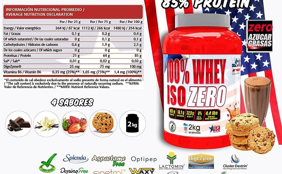 Iso Zero proteína American Suplement - 2kg - Cookies …