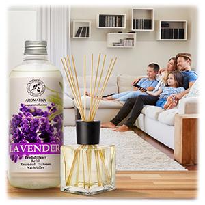 Recharge pour Diffuseur de Lavande 500 ml - Huile Essentielle Naturelle Lavande - Diffuseur Parfum