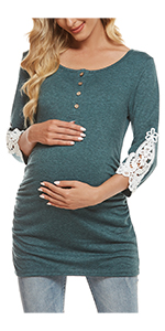 Maternity tops breastfeeding shirts maternity tunic blouses nursing tops pregnancy clothes