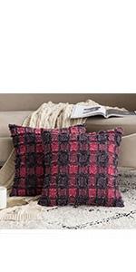 buffalo check plaid pillows red classic
