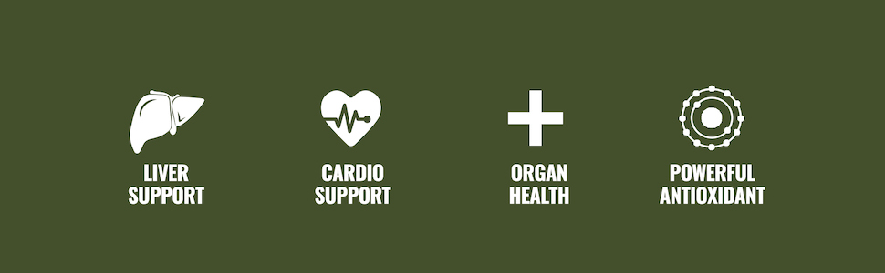 Liver Support, Cardio Support, Organ Health, and Powerful Antioxidant