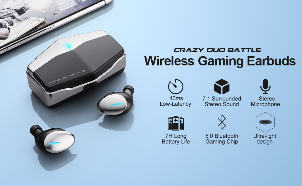 wireless5.0 gaming earbuds