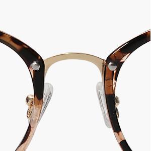 , Amomoma Round Non-Prescription Eyeglasses Clear Lens Glasses Eyewear Frame A5001, Luxoney