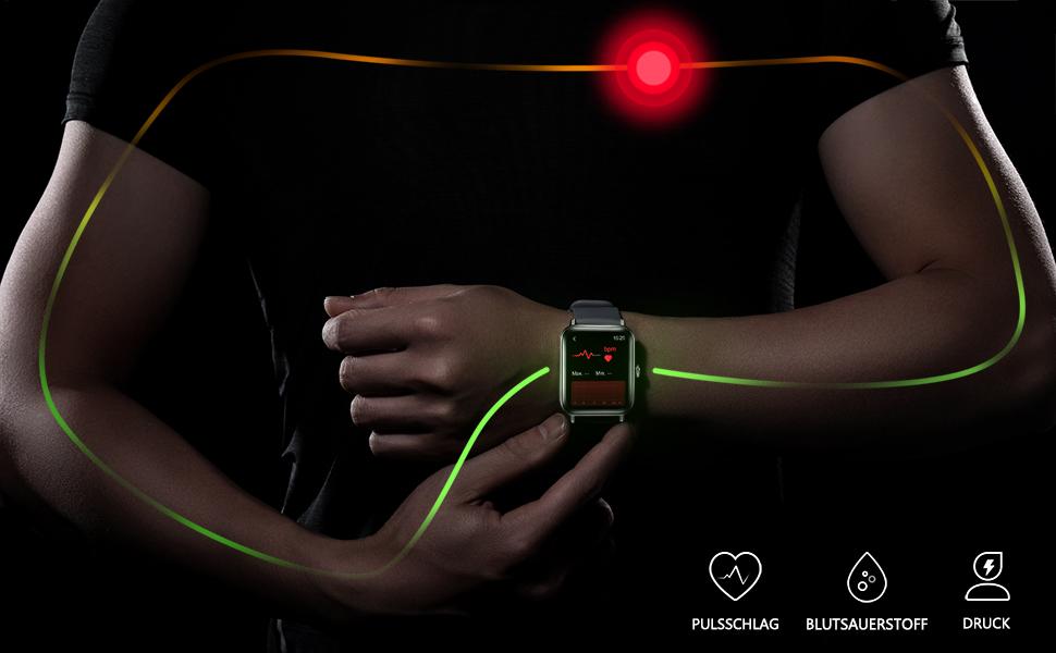 smartwatch damen Herzfrequenzmesser