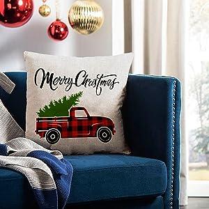 Christmas pillows decorative throw pillows covers