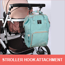 Stroller attachment in Motherly Diaper Bag