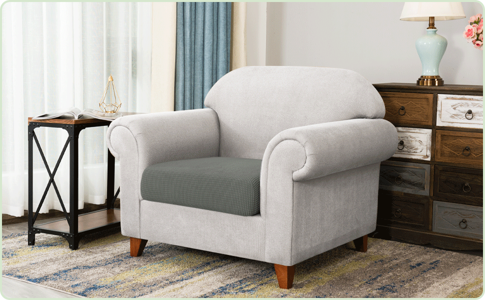 Read more about the article CHUN YI Stretch Couch Cushion Covers Replacement, Fitted Loveseat Sofa Chair Seat Slipcovers Furniture Protector, Checks Spandex Jacquard Fabric(1PC-1Seater,Dove Gray)