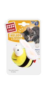 gigwi melody chaser cat toy bee sound ship