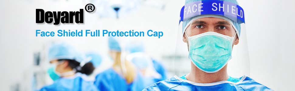Safety Face Shield Full Protection Cap Wide Visor