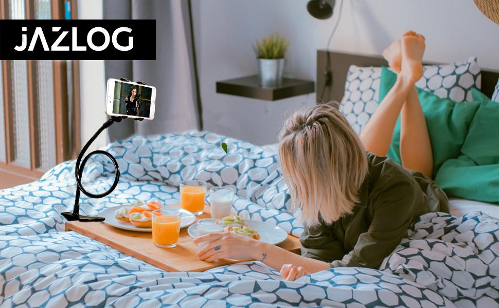 gooseneck phone mount, long neck phone holder, long holder, flexible phone stand, universal