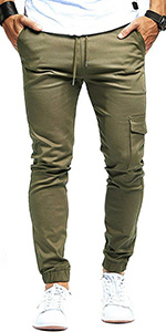Mens Cargo Joggers Trousers