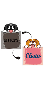 dishwasher dirty clean sign magnet