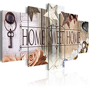 Home Sweet Home Love Wall Art Canvas 5 Pieces