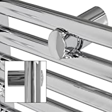 500x900 mm Sahara Badheizkörper Heizkörper Gebogen Heizung Seitenanschluss Chrom