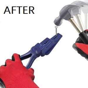 nail holder for hammering