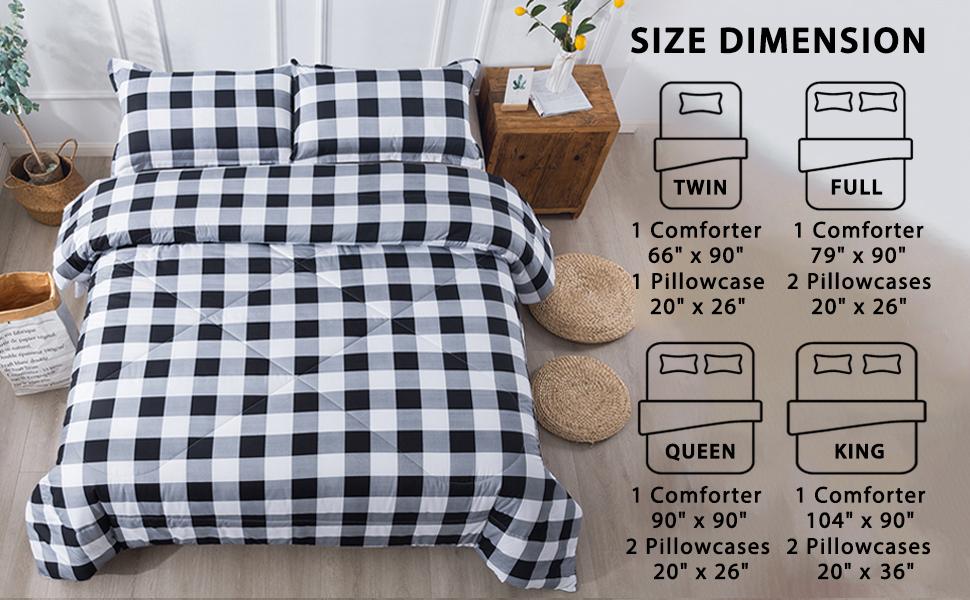 King Plaid Comforter Set