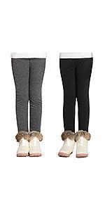 Adorel Leggings Invernali Termici Cotone Bambine