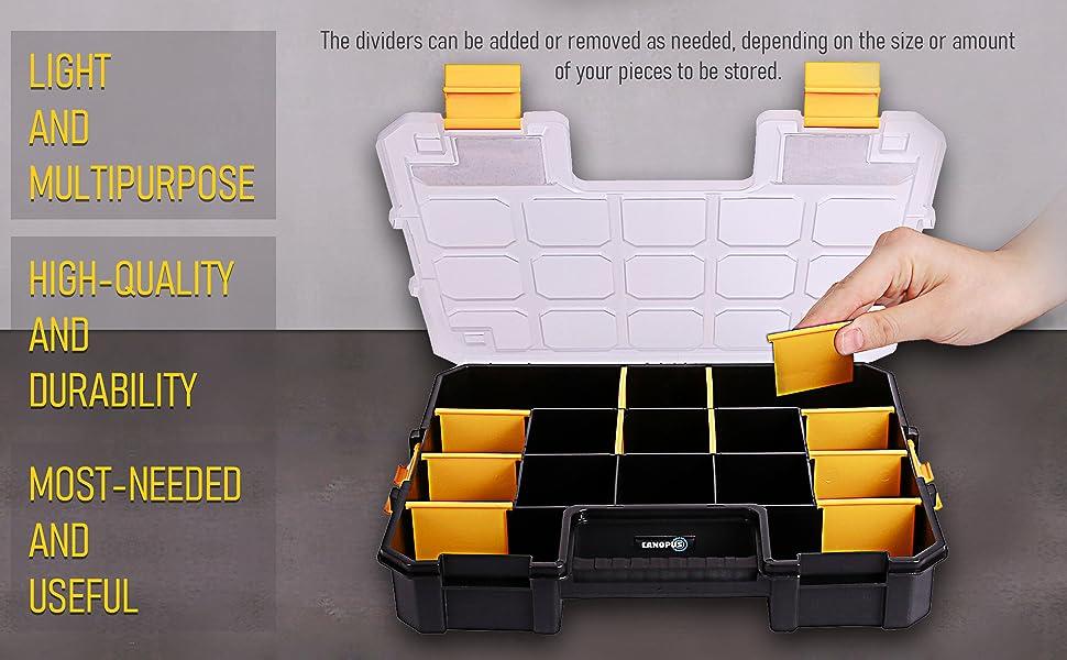 toolbox craftsman metal compartment craft bit deep hardware part stackable organizer stanley screw