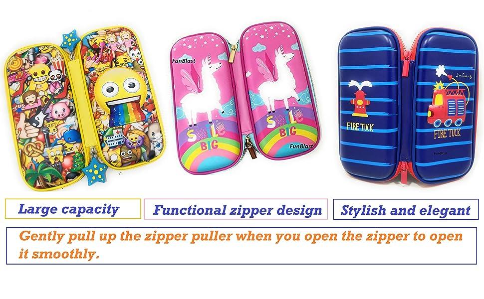 girls pencil pouch men pencil pouch multi pocket pencil pouch nylon pencil pouch of unicorn