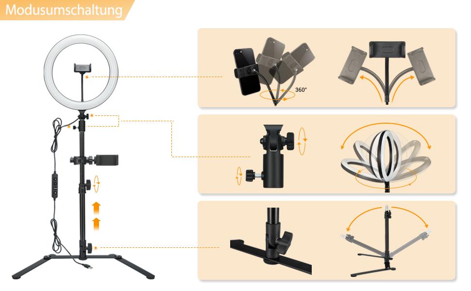 Godox Lr120 Led Ringlicht Kit 12 Kamera