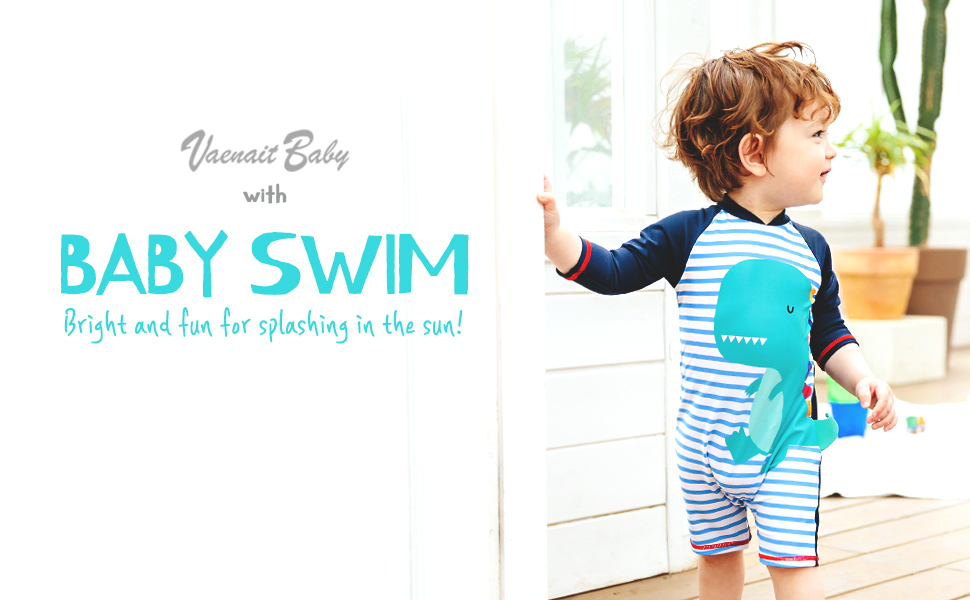 Vaenait baby 0-24M Baby Girls UPF 50 Protection Rashguard Swimwear Sunsuit One Piece Baby