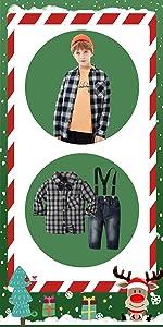 Navidad Bebe Niña Niño Fossen 4PCS Conjunto de Ropa Papá Noel Tops+Pantalones + Sombrero + Calcetine