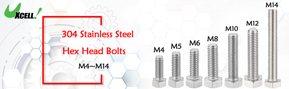 304 Stainless Steel Hex Head Bolts