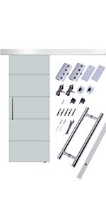HOMCOM Kit Instalacion Puerta Corredera Madera Riel Aleacion Aluminio Puertas Corredizas: Amazon.es: Hogar