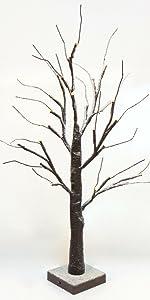 Lighted Birch Snow Tree Decorative Twig