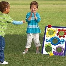 carnival game ring toss bean bags cornhole set