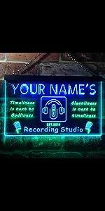 ADVPRO Custom Personalized Name Recording Studio On Air Dual LED Neon Sign Studio light man cave