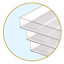 plastic desktop letter tray stacking mesh desk file storage shelving paper document A4 solid purple
