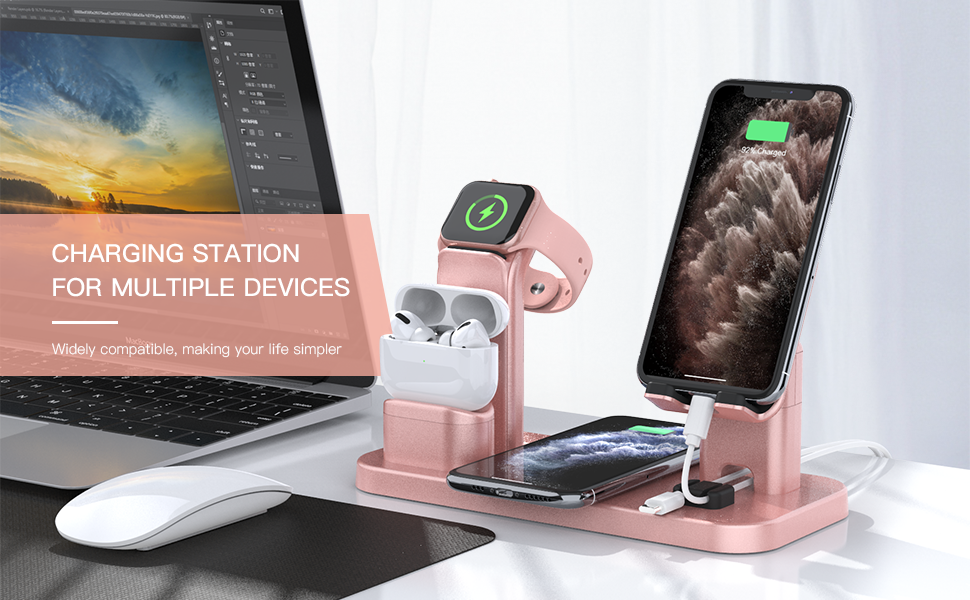 wireless charging stand for apple devices